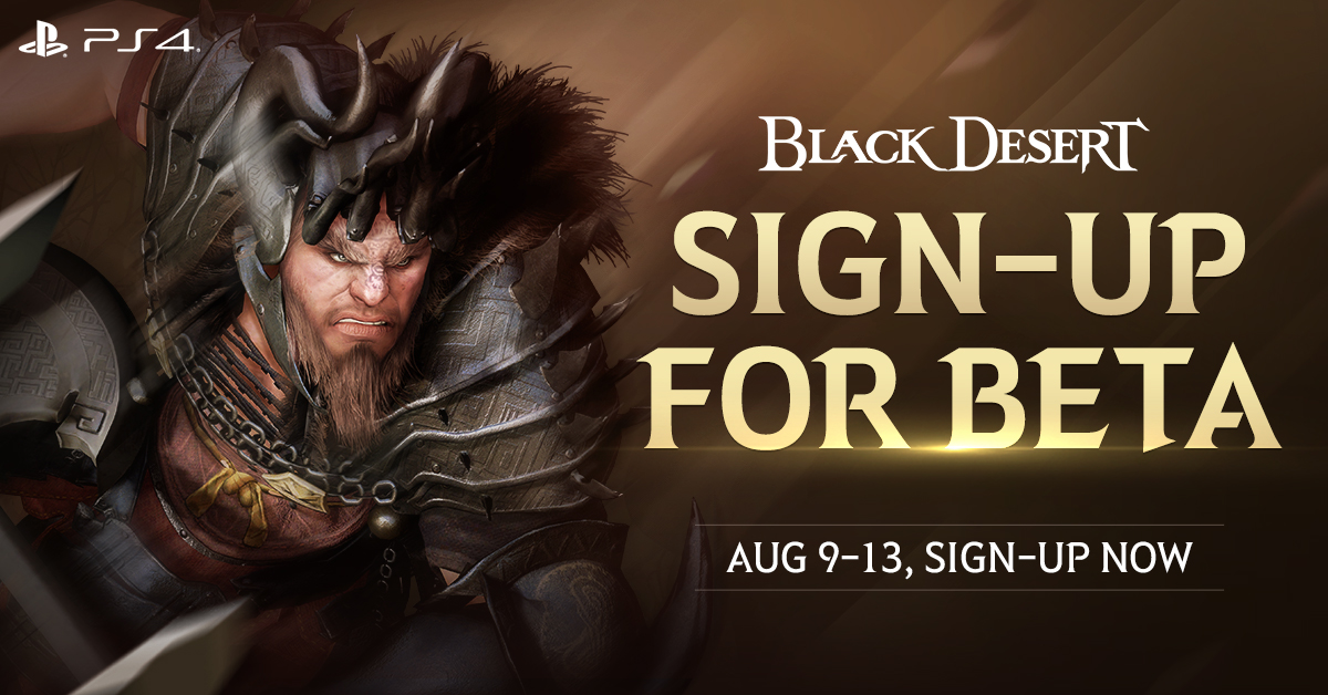 Black Desert Beta Hitting PlayStation 4 on August 9